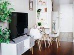 50' flat screen smart roku TV with complimentary Netflix access!