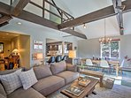 The open-concept living area makes it easy to socialize.