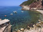 View of Cala Estellencs and Sa Punteta Bar. 8 minutes from the house by car