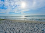 The sands of Longboat Key right in front of the Villa
