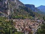 The village of Moustiers-Sainte-Marie