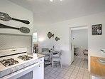 The fully equipped kitchen has all of the necessary appliances you'll need.
