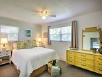 Both bedrooms have comfy queen-sized beds.