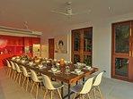 Villa Sunyata - Dining Area at Sunset
