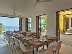 Villa Sunyata - Dining Area with 16 seats and Sea View