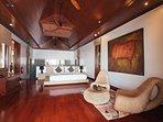 Villa Sunyata - Master Bedroom with Open Plan Ensuite Bathroom (Bedroom #1)