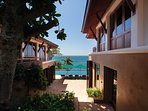 Villa Sunyata - Overlooking the Ocean - View from the Entrance