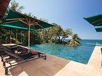 Villa Sunyata - Pool & Loungers - View over the Andaman Sea