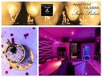 Suite avec Jacuzzi privé et Sauna Appart Hôtel de Luxe GLAM88 Vosges