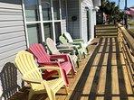 Porch facing beach