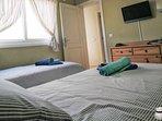 Habitacion 2 camas individuales TV