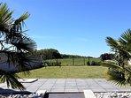 Terrasse, jardin, balançoire