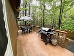 Deck with Propane grill