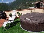 idromassaggio e solarium secondo terrazzo