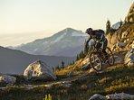 Mountain biking on world class trails