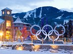 Whistler winter from the Olympic Plaza