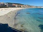 Playa de Silgar a unos 50 metros del portal del apartamento