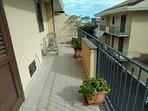 balcone della camera vista cortile