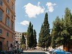 strada con vista piazza dei Quiriti