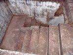 Escalier pour accéder au toit