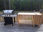 BBQ on deck with work table