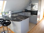 Fully equipped kitchen granite worktops breakfast area with tea/coffee facilities