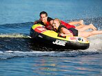 if you decide to rent the jet Ski (optional) the sea donut becomes a thrill ride