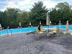 seasonal outdoor pool & hot tub