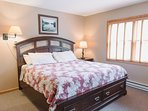 The king sized bed is extemely comfortable, linens are provided, has a flat screen tv, cable, and A/C.