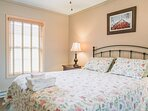 The second bedroom with a queen sized bed and a very comfortable mattress.  All mattresses are purchased from the same...