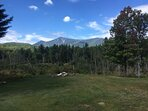 View of Whiteface from the yard and firepit.