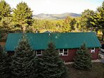 Esther Mountain Chalet with amazing views of the mountains and woods providing peace and solace.