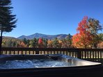 Fall is special in the Adirondacks!  Enjoy the view and fall foliage from the hot tub!!