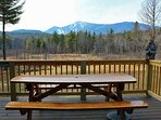 Fantastic view of Whiteface Mountain to enjoy while eating at your picnic table on the deck.