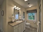 Freshen up in one of 2 full bathrooms.
