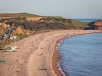 Walking down to Budleigh Salterton from the South West coast path.