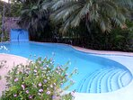 The only private full sized pool available in a private rental on the island.