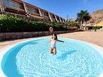 Heated paddling pool