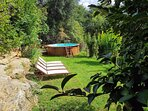 Piscine privative et jardin