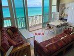 living, dining & balcony