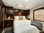 Comfy Master Bedroom With Queen Size Bed