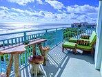 Gorgeous balcony with breathtaking sunrise views!