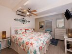 Master Bedroom with New King Bed and Temperpedic Top - all linens are provided, we provide beach towels and umbrella as...