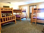 Upstairs bunk beds. Great for kids!
