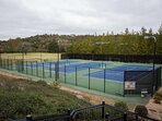 3 lighted tennis courts at clubhouse