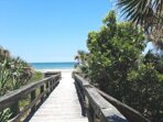 Board walk down from condo, only a few steps leading to spectacular beach!