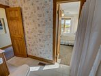 Mid-Level Jack and Jill Hall Bathroom, access to Queen Bedroom