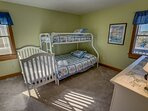 Mid-Level Bedrooom with Duo Bunk/Trundle and Crib, shares access to Jack and Jill Hall Bathroom ** The high...