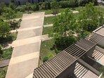 Vue de la terrasse sur le jardin