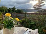 Dinner Alfresco with a view of the Lake to the mountains. Afternoon/Evening Sun - South Westerly